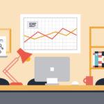Collaboration workspace office illustration